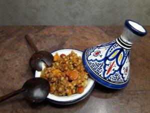 Tajine de pois chiches aux légumes parfumé à la cardamone fait maison