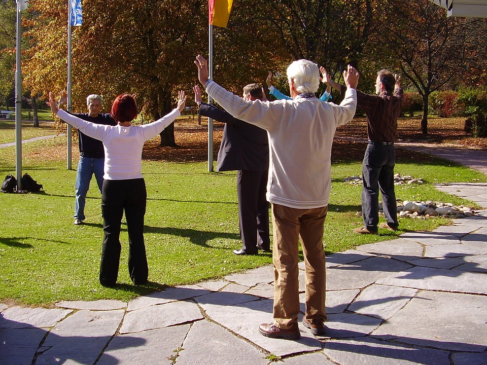 Sport après 65 ans, cours de Qi Gong en plein air